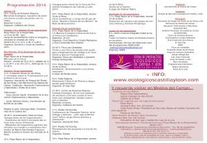 Programación 1 Feria Ecológica 2014