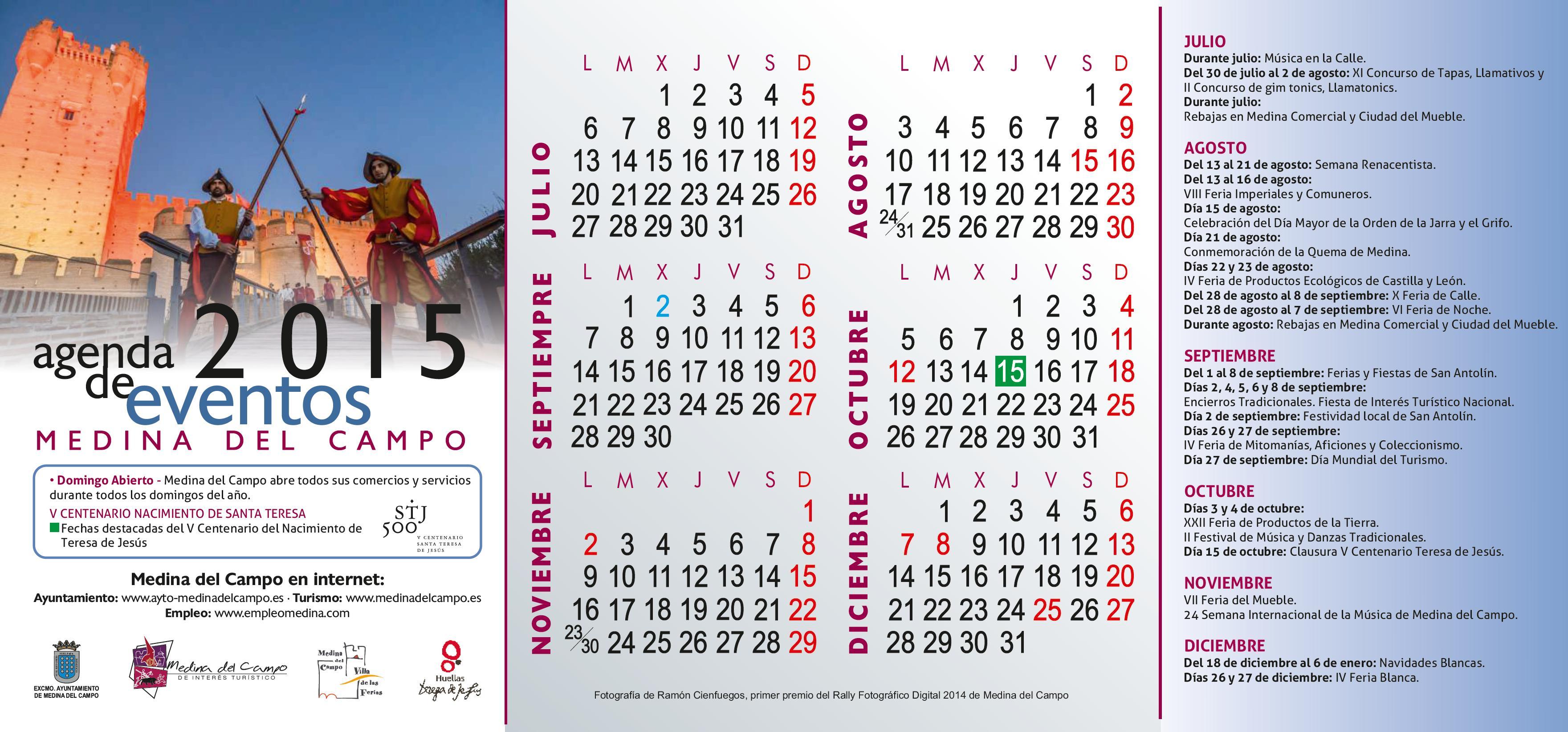 Agenda Eventos jul-dic 2015 Medina del Campo
